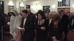 مراسم نیایش عراقی ها و سوری های مسیحی در واشنگتن