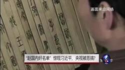 """焦点对话:""""赵国内奸名单""""惊现习近平,央视被恶搞?"""