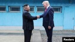 Kuzey Kore Lideri Kim Jong UN ve Amerika Başkanı Donald Trump