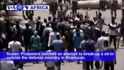 VOA60 Africa - Sudan's Protesters Defiantly Continue Sit-In