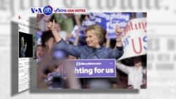 VOA60 Elections - CNN: Hillary Clinton scored four big victories Tuesday