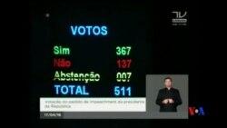 2016-04-18 美國之音視頻新聞: 巴西國會彈劾總統羅塞夫