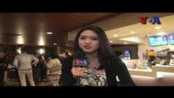 Acha Septriasa dan Adipati Dolken di Indonesian Film Festival