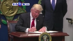 VOA60 America - President Trump Signs New Travel Order