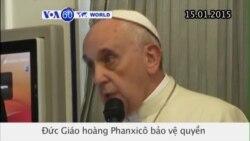 Đức Giáo Hoàng: Tự do ngôn luận nhưng không nên xúc phạm tôn giáo (VOA60)