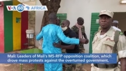 VOA60 Afrikaa - Mali's M5-RFP opposition coalition arrive at the military base where the coup started
