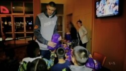 NBA's Only Ukrainian Player Embraces His Adopted US City