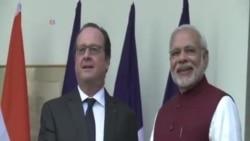 法國總統訪印加強兩國安全關係
