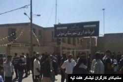 تحصن روز دوشنبه کارگران مقابل فرمانداری شوش