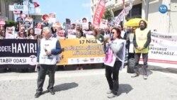Sağlık Çalışanlarından Şiddete Protesto
