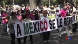 2017-02-13 美國之音視頻新聞: 墨西哥數千人集會抗議美墨總統