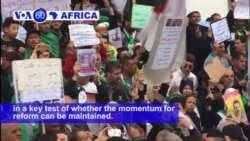 VOA60 Africa - Algerians demonstrated for the first time since the resignation of ailing president Abdelaziz Bouteflika