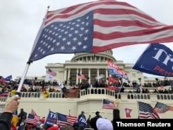 지난 1월 도널드 트럼프 미국 대통령 지지자들이 연방의사당에 난입했다.