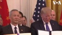 ԱՄՆ-ի նախագահն ու Չինաստանի փոխնախագահը Սպիտակ տանը երկու երկրների միջև առևտրի նոր համաձայնագիր են ստորագրել