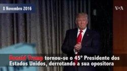 Donald Trump, um ano depois da sua eleição