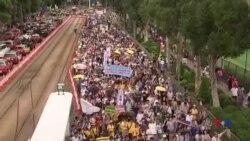 香港七一大遊行 參與者不滿港府施政