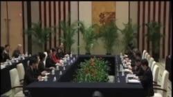 2014-02-11 美國之音視頻新聞: 兩岸官員南京會晤互稱官銜