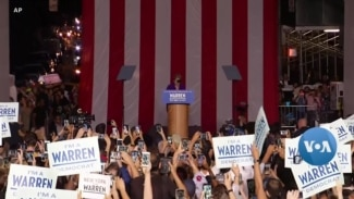 Warren Surging in Democratic Presidential Race