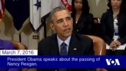 President Obama on Nancy Reagan's Passing