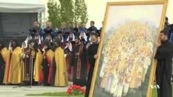 مراسم یکصدمین سالگرد کشتار ارامنه در ارمنستان برگزار شد