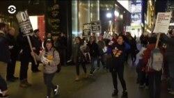 Импровизированный концерт «Сопротивления» у Трамп-тауэр в Нью-Йорке
