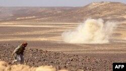 រូបឯកសារ៖ សកម្មភាពប្រយុទ្ធតទល់គ្នារវាងក្រុមឧទ្ទាម Houthi និងកងកម្លាំងយោធាអារ៉ាប៊ីសាអូឌីតដែលគាំទ្ររដ្ឋាភិបាលយេម៉ែន នៅតំបន់ Marib នៃប្រទេសយេម៉ែន កាលពីថ្ងៃទី១១ ខែកុម្ភៈ ឆ្នាំ២០២១។