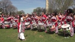 All Women Drum Troupe Lifts Audience's Spirit