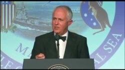 特恩布尔总理敦促美澳继续联手原声视频 (美国国防部视频)