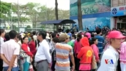 2015-03-31 美國之音視頻新聞:越南工人連續五日罷工抗議社保法