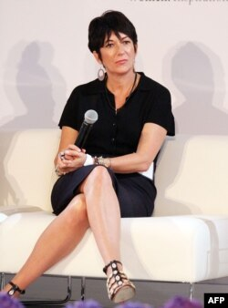 (FILES) In this file photo taken on September 20, 2013, Ghislaine Maxwell attends day 1 of the 4th Annual WIE Symposium at Center 548 in New York City. - British socialite Maxwell was arrested on July 2, 2020, by the FBI in the Jeffrey Epstein sex…