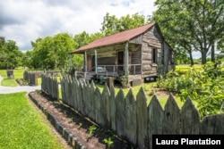 A slave cabin at Laura, a former sugar plantation in Vacherie, Louisiana. (Courtesy Laura Plantation)