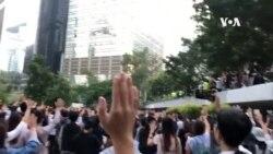 香港民眾對部分駐港部隊軍人走出軍營表達不滿與擔憂