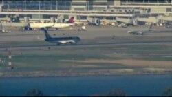 Donald Trump's Plane Arrives at Reagan National Airport