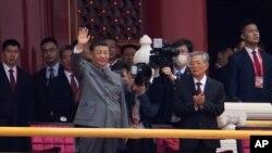 شی جین پینگ، رئیس جمهوری چین در مراسم صدمین سال تاسیس حزب حاکم کمونیست