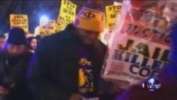 纽约再次爆发反警察抗议示威