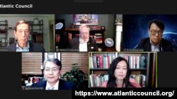 3일 워싱턴의 민간단체 애틀랜틱카운슬과 한국국제교류재단이 공동 개최한 화상 토론회가 열렸다.