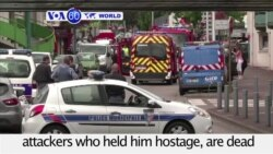 VOA60 World - IS Claims Responsibility for Normandy Church Attack