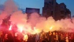 Заврши протестот на Шарената револуција со факели