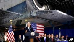 美國副總統彭斯和五角大樓官員星期二對國家空間委員會發表講話。
