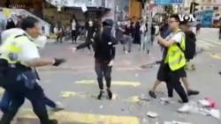"""週一11.11全港""""三罷""""演變成多區暴力警民衝突"""