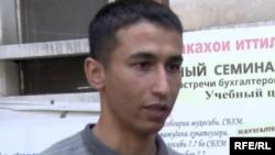 Tajik journalist Abdulloh Ghurbati. (Radio Ozodi-RFE/RL)
