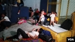 Caravana de migrantes que llegó a Guatemala en enero de 2019, en Tecún Umán, San Marcos.