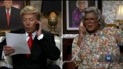 Політична сатира - невід'ємна частина американських вечірніх ток-шоу. Відео