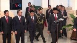 Presiden Joko Widodo Lantik Jenderal Polisi Badrodin Haiti Jadi Kapolri