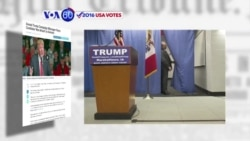 VOA60 Elections - Donald Trump is skipping the final GOP debate