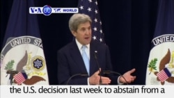 VOA60 World PM - Kerry: Israeli-Palestinian Two-state Solution 'in Jeopardy'