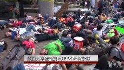 数百人华盛顿抗议TPP不环保条款