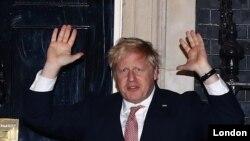 Umushikiranganji wa mbere w'Ubwongereza, Boris Johnson i Londres mu Bwongereza.