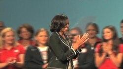 Michelle Obama y los atletas olímpicos