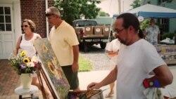 走进美国:伊斯顿户外写生大赛 艺术家的完美夏日